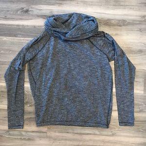 Lululemon Gray and Black Cowl Neck Sweater
